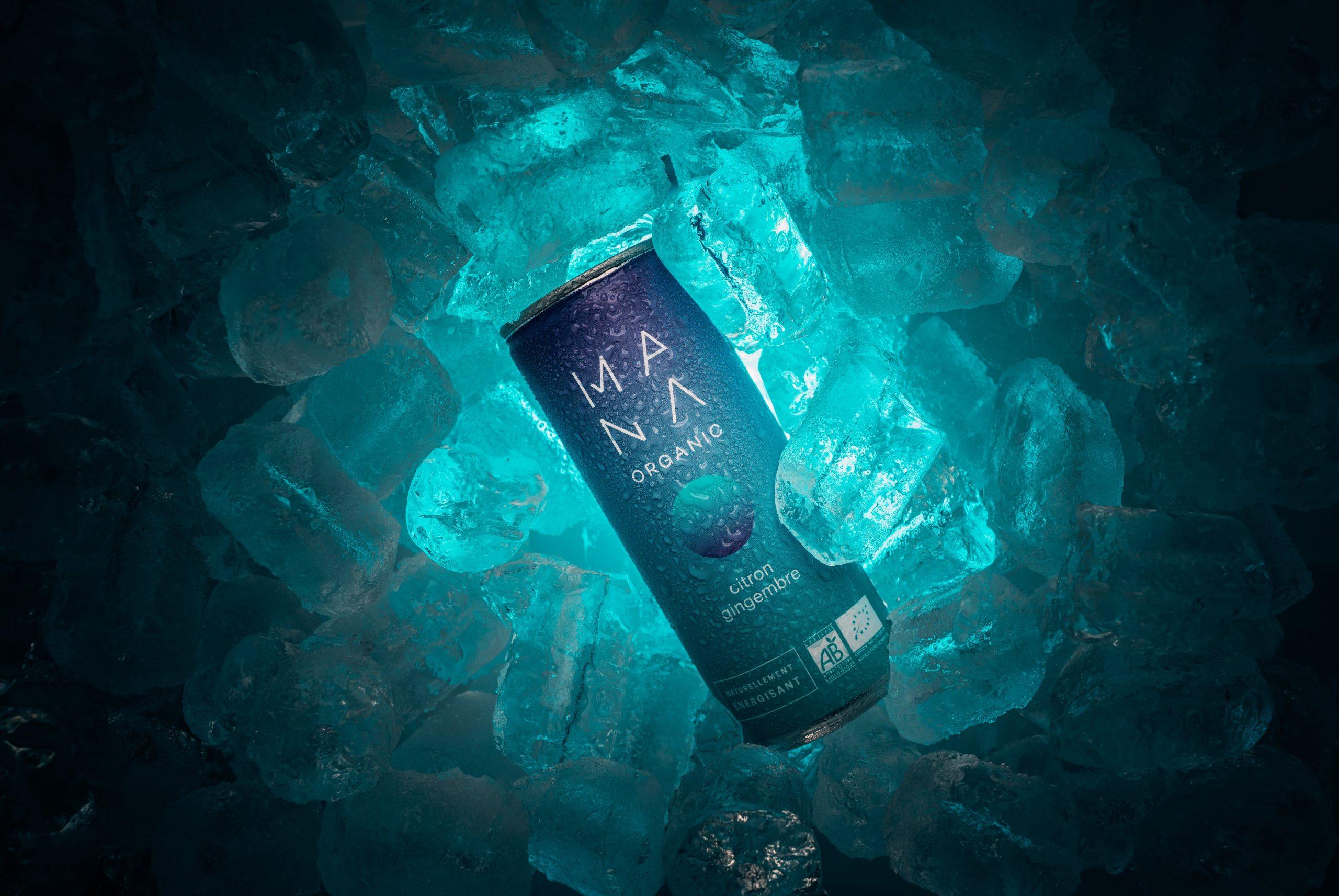 Photographe vidéaste Bordeaux : packshot ice Mana Organic